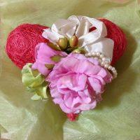ハートの形の花束
