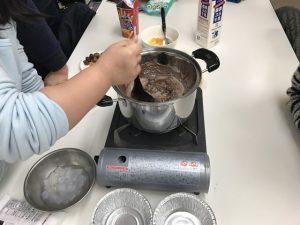 湯せん中のチョコ