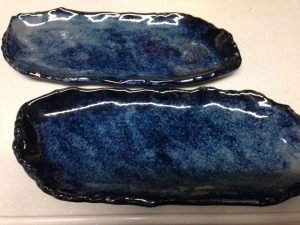 瀬戸焼の焼き魚皿