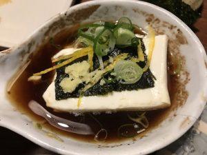 湯豆腐盛り付け