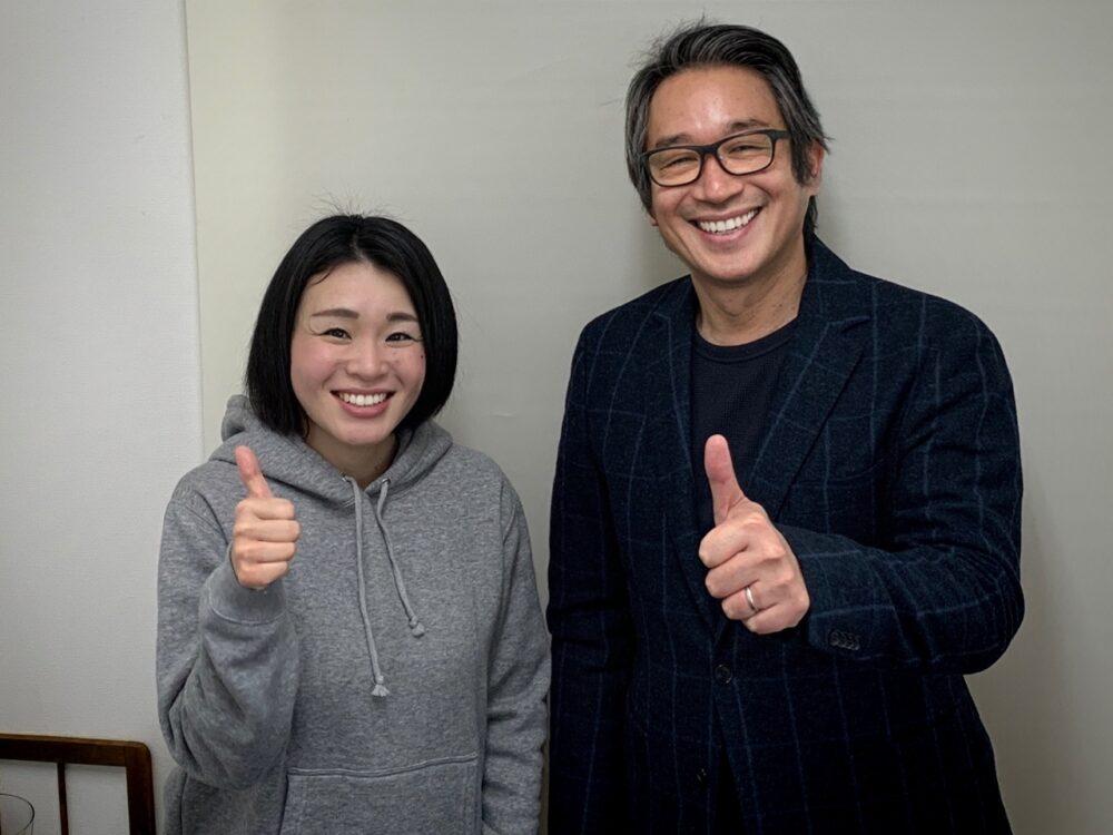 山田真智子カウンセラーと竹内嘉浩代表